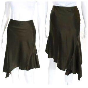 Haider Ackermann 100% Silk Asymmetrical Skirt 38